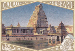 Chromo -publicité Chocolat Suchard - Pagode De Condjeveram ( Indes Orientales ) - Suchard