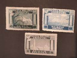POLOGNE - 1944/1945 - Corps Polonais En Italie (ANCONA - BOLOGNA - MONTE CASSINO) - N° 1/3 * - Sonstige