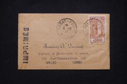 MAROC - Enveloppe De Rabat Pour Amiens ( Gendarme ) En 1917, Oblitération De La Foire De Rabat - L 95109 - Covers & Documents