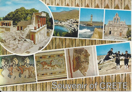 CPM Grèce Souvenir Of Crète Vue Multiple 8 Vues - Gruss Aus.../ Grüsse Aus...
