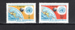 SALVADOR    N° 727 + 728    NEUFS SANS CHARNIERE  COTE 1.00€   METEOROLOGIE  ESPACE - El Salvador