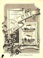 C 15 Cl 20/ 08) Publicité Ancienne Fond D'Imprimerie Début XX Ième/ Astuce:Minimiser Les Frais Prenez Plusieurs Objets - Advertising