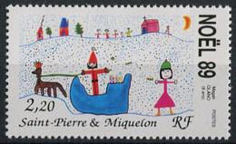 St. Pierre Et Miquelon 1989. Mi.#589 MNH/Luxe. Celebrations. Christmas (Ts16) - Nuovi