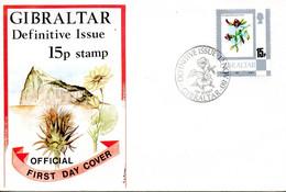 GIBRALTAR. N°415 De 1980 Sur Enveloppe 1er Jour. Pois Asperge. - Sonstige