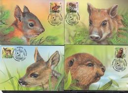 Belarus Weissrussland MNH** 2021  Mi  1392  Wild Baby Animals Max Card - Bielorrusia