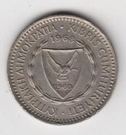 @Y@  Cyprus   25 Mils  1968   (3866 A) - Cyprus