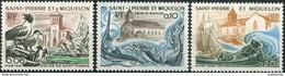 St. Pierre Et Miquelon 1974. Mi.#502/04 MNH/Luxe. Fnimals. Birds. Fishe. Churches (Ts17) - Nuovi