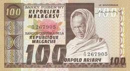 MADAGASCAR P. 63a 100 F 1974 UNC - Madagascar