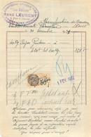 FACTURE CONFISERIE AUX DELICES RENE LAURENT COMMENTRY  1931 - 1900 – 1949