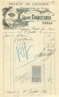 FACTURE LEON BERNARD MANUFACTURE DE BUSES  PARIS  1920 - 1900 – 1949