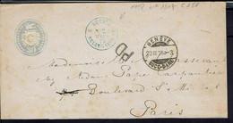 Suisse - Enveloppe Entier Postal 30 C De Genève 23-III-1875 Pour Paris En P.D - B/TB - - Covers & Documents