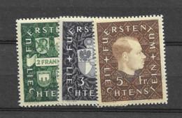 1939 MNH Liechtenstein Mi 183-85 Postfris** - Unused Stamps