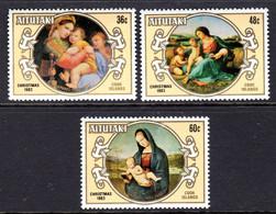 AITUTAKI - 1983 CHRISTMAS RAPHAEL ANNIVERSARY SET (3V) FINE MNH ** SG 470-472 - Aitutaki