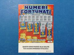 ITALIA BIGLIETTO LOTTERIA GRATTA E VINCI USATO € 3,00 NUMERI FORTUNATI LOTTO 3003 SERIE SS - Billetes De Lotería
