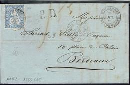 Suisse  - N° 46 Helvetia 30 C Sur Lettre En P. D. De Schwanden 13 Juillet 1868  Pour La France - B/TB - - Covers & Documents