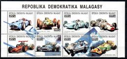 Madagaskar 1446 - 1461 Zdr Mnh ** Formel 1, Bugatti Lotus Porsche Honda Ligier Benetton  Matra Ferrari - Madagascar (1960-...)