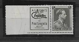 België  Pubs N° Pu 108  Xx   Postfris  Cote 40 Euro - Advertising