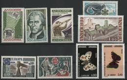 ANDORRE FRANCAIS 1976 ANNEE COMPLETE COTE 31.3 € N° 251 à 259 NEUFS ** (MNH). Vendue à 10% De La Cote. TB - Volledige Jaargang