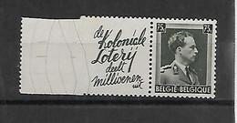 België  Pubs N° Pu 110  Xx   Postfris Cote 40 Euro - Advertising