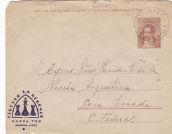 "ARGENTINA. ""CIRCULO LA REGENCE"", AJEDREZ CHESS ECHECS. ENTIER ENVELOPPE. CIRCULEE VICTORIA, ANNEE 1943.- LILHU - Chess"