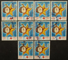 FRANCE N°3288a Dentelé 13,5 X 13 Oblitéré X 10 - Collezioni (senza Album)