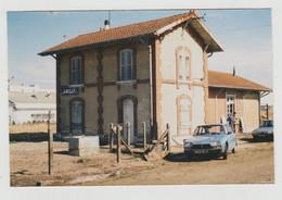 45 Vers Montargis PHOTO D'une Belle Citroên GS Devant L'ancienne Gare D'Amilly En Travaux Ouvriers Echelle - Coches