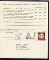 Etats-Unis - Carte Entier Postal Avec Réponse Payée De Houston 5 Avril 1957 Pour Montpellier (Fr) - 1941-60