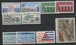 ANDORRE FRANCAIS 1984 ANNEE COMPLETE COTE 32.6 € N° 327 à 336 NEUFS ** (MNH). Vendue à 10% De La Cote. TB - Años Completos