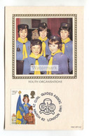 Girl Guides, Youth Organisations - Postcard From 1982 With Commemorative Stamp And Postmark - Scouting