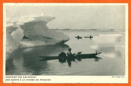 GREENLAND 001, *  KAJAKKER På SAELFANGST * UNUSED - Greenland