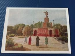 Russian Asia. Ashgabat / Ashkhabad. Lenin Monument. OLD Soviet PC. 1958 - Turkmenistan