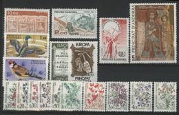 ANDORRE FRANCAIS 1985 ANNEE COMPLETE COTE 42.1 € N° 337 à 344 Taxe N° 53 à 62 NEUFS ** (MNH) Vendue à 10% De La Cote. TB - Años Completos