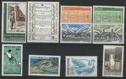 ANDORRE FRANCAIS 1986 ANNEE COMPLETE COTE 26.9 € N° 345 à 254 NEUFS ** (MNH). Vendue à 10% De La Cote. TB - Años Completos