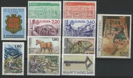 ANDORRE FRANCAIS 1987 ANNEE COMPLETE COTE 44.6 € N° 355 à 365 NEUFS ** (MNH). Vendue à 10% De La Cote. TB - Años Completos