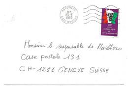281 - 63 - Enveloppe Envoyée D'Abgoville En Suisse 1982 - Ivory Coast (1960-...)