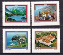 Italy 2012 Tourist Attractions. Baveno, Montecassino, Maiori, Ustica MNH - 2011-20:  Nuevos