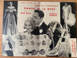 Cinéma Marbeuf Présente... Pirates De La Mode Avec Bette Davis & William Powell - Posters