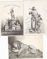 Lot 3 Chromo -publicité Chocolat Suchard - Les Monuments De Altdorf, , Bale Et De Lucerne - Suchard