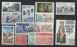 ANDORRE FRANCAIS 1991 ANNEE COMPLETE COTE 45.4 € N° 400 à 412 NEUFS ** (MNH). Vendue à 10% De La Cote. TB - Años Completos
