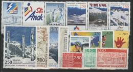 ANDORRE FRANCAIS 1993 ANNEE COMPLETE COTE 32.2 € N° 425 à 440 NEUFS ** (MNH). Vendue à 10% De La Cote. TB - Años Completos