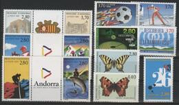ANDORRE FRANCAIS 1994 ANNEE COMPLETE COTE 25.7 € N° 441 à 453 NEUFS ** (MNH). Vendue à 10% De La Cote. TB - Años Completos