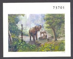Thailand, 1991, Elephants, Animals, Fauna, MNH Imperforated, Michel Block 36B - Tailandia