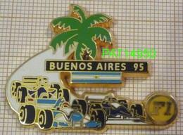 F1  BUENOS AIRES 95 1995 BENETTON RENAULT  WILLIAMS RENAULT  Cartouche Noir En Version ZAMAC - F1
