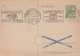 ALLEMAGNE. FRANCKESCHE STIFTUNGEN 25 JAHRE, LANDESHAUPTSTADT HALLE/SAALE. 1948, SPC. ENTIER CARTE POSTALE.- LILHU - Stamped Stationery