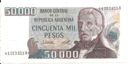 ARGENTINE 50000 PESOS ND1979-83  VF+ P 307 - Argentina