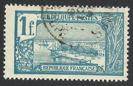 Guadeloupe, 1 F. 1925, Sc # 80, Used. - Usados
