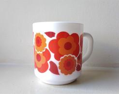 - MUG. TASSE. Année 70 - Orange - 1970 - Seventies - - Cups