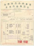 FAC069 -België  Factuur CIGARETTES LAURENS LE KHEDIVE  Te BRUXELLES   Uit 1936 Met Takszegels - 1900 – 1949