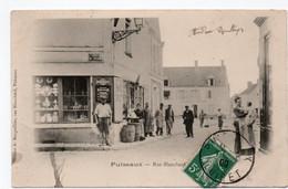 CPA Ed Maison Marguiller  Puiseaux Rue Blanchard  Très Animée Recto 1909 - Puiseaux