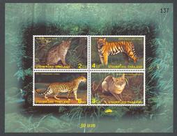 Thailand, 1998, Wild Cats, Tiger, Animals, Fauna, MNH, Michel Block 110 - Tailandia